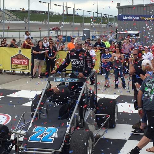 Bobby Santos wins USAC at Iowa Speedway 1