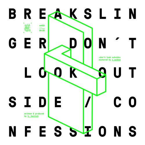 [AE013] Breakslinger - Don't Look Outside / Confessions (OUT NOW)