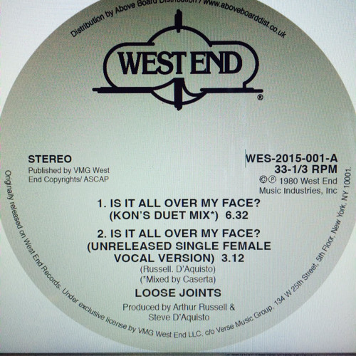 """LOOSE JOINTS """"IS IT ALL OVER MY FACE"""" KON'S DUET MIX (CASERTA MIXDOWN)"""