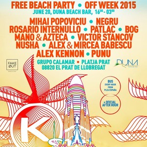 Alex & Mircea Babescu - OFF Sonar Barcelona beach party (20 JUL 2015)