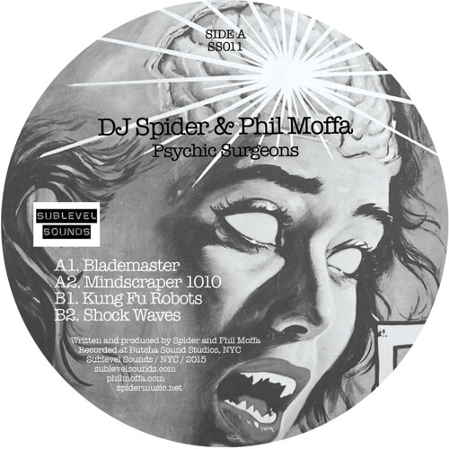"4 clips from ""Psychic Surgeons"" - DJ Spider & Phil Moffa (12"" Vinyl)"