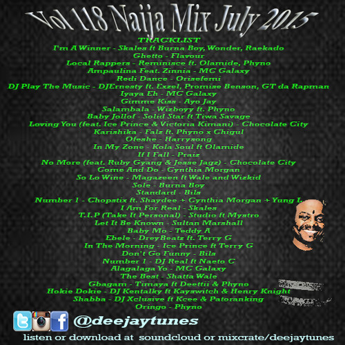 Vol 118 @deejaytunes Afro Mix July 2015