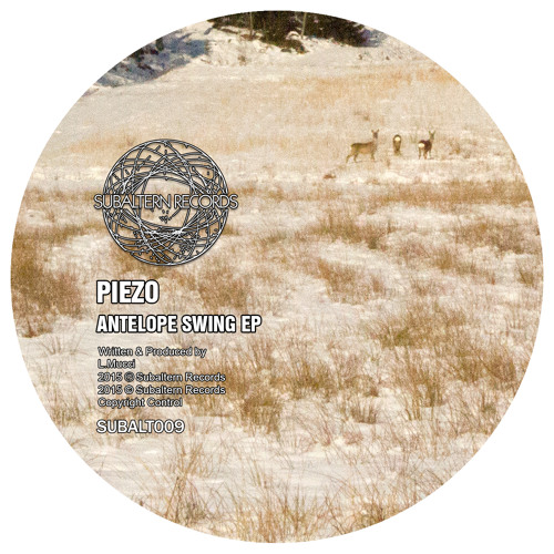 SUBALT009 - Piezo - Antelope Swing EP + Clearlight & Owl Remix - OUT NOW