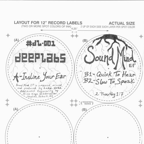 Luke Hess - Sound Mind EP - DeepLabs 01 - Limited 12
