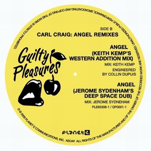 "Carl Craig - Angel (Keith Kemp Western Addition remix) - Guilty Pleasures/Planet E 12"" vinyl release"