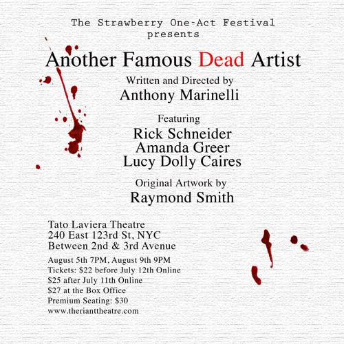THE VINE, Host Shelby Tansil talks to the cast & playwright of ANOTHER FAMOUS DEAD ARTIST