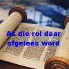 As Die Rol Daar Afgelees Word