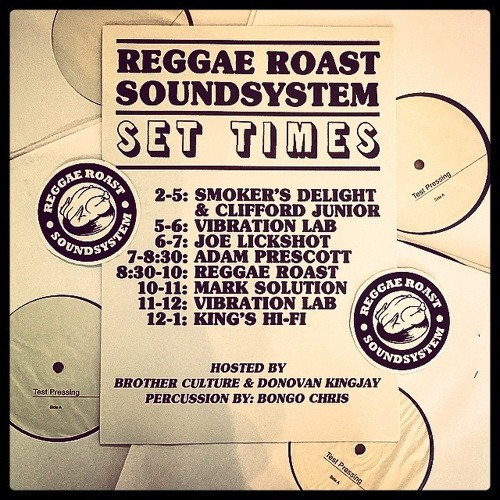"VibrationLab ""live in session"" feat Brother Culture @Reggae Roast Sunday Skank(Free Download)"