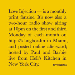 Love Injection Radio 002 feat. James Friedman