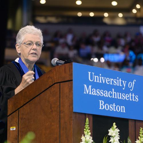 Gina McCarthy at UMass Boston's Commencement