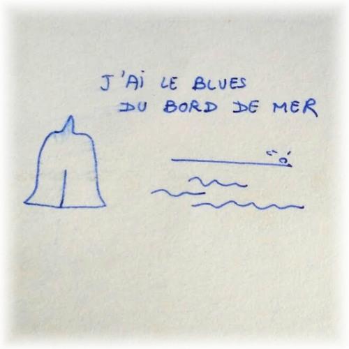Blues du bord de mer. Dessin de Didier Bonnamour †