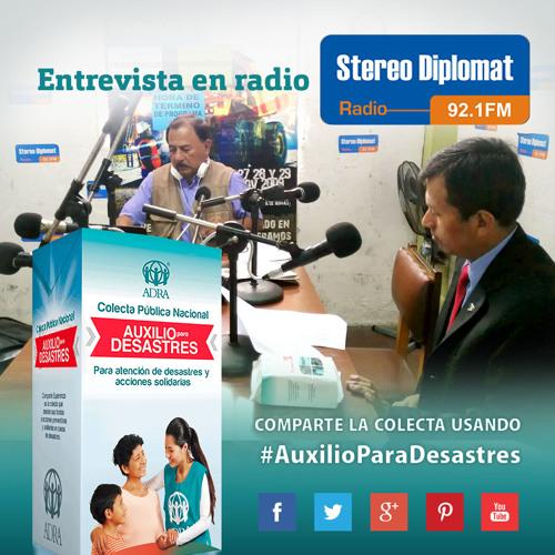 Difusión de la Colecta Auxilio para Desastres en Radio Stereo Diplomat - Entrevista Completa