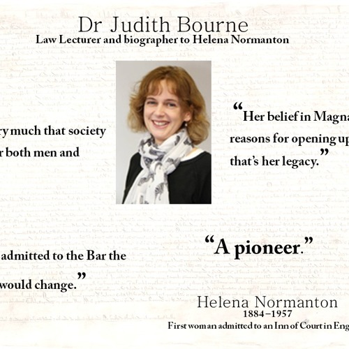 Dr Judith Bourne and Helena Normanton