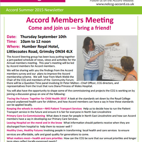 Accord Summer 2015 Newsletter
