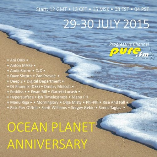 Ocean Planet Anniversary Mix - 30 july 2015, Pure FM