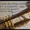 Canon for Three Trumpet (Schulz) - David Miller