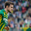 Mike Havenaar scoort de 1-1 voor ADO Den Haag tegen FC Utrecht