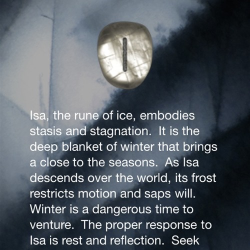 rune poem - blue at #theninerealms