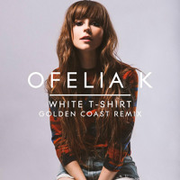 Ofelia K White T-Shirt (Golden Coast Remix) Artwork