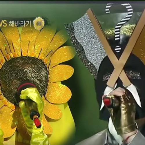 150823 King Of Masked Singer, Solar (aka Sunflower) vs  Axe