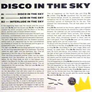 Disco In The Sky by King So So