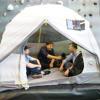 Tech tent - solar powered