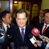 Conferencia del Pdte. del Congreso, Luis Iberico, en el parlamento nacional Portada del disco