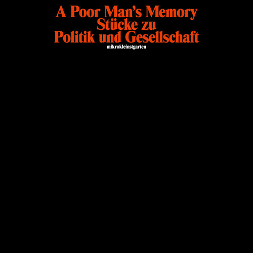 A Poor Man's Memory - Cherub