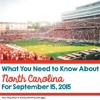 What You Need To Know About North Carolina For September 15, 2015