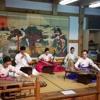 Présentation des instruments de musique coréens.