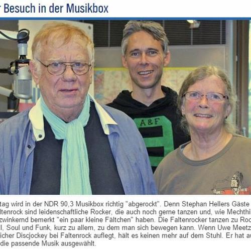 Faltenrock goes NDR Musikbox