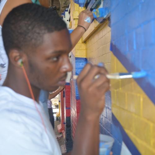 WFUV Spot on CAW's Mural for DOT Harlem - 125th Station 09 - 09 - 2015