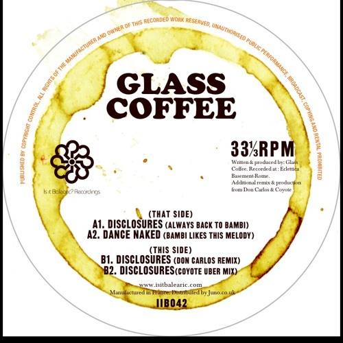 Side B2 Glass Coffee Disclosures (Coyote Uber Remix)