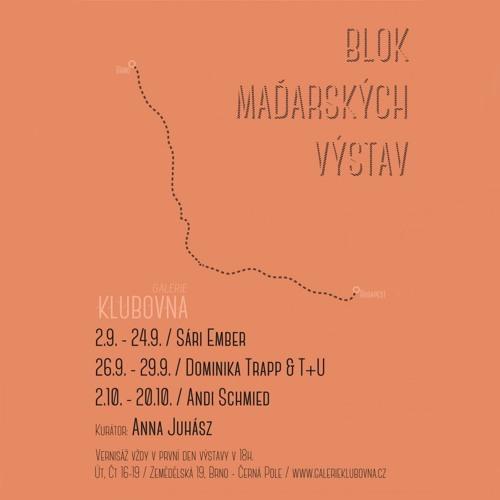 Galerie Klubovna: Block of Hungarian exhibitions (Anna Juhász & Dominika Trapp)