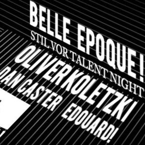 OLIVER KOLETZKI Dj Set - STIL VOR TALENT à la BELLE EPOQUE ! - ZiG ZAG Club - PARIS - 25.09.2015