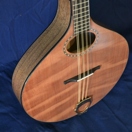Redwood flat-top bouzouki, walnut body