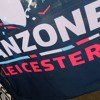 RWC 2015 volunteer Maria Doust talks to Canada fans in the Leicester Fanzone