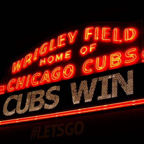 My fam and I gathered 'round the radio to hear the Cubs win the wildcard