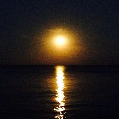 la lumière de la lune miroitant sur l'eau