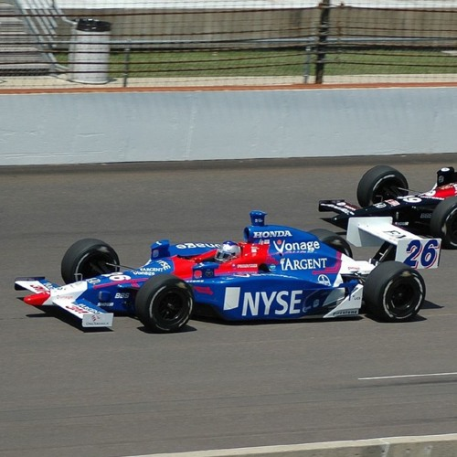 IndyCar Car Race Decelerating With Choppy Backfire Sound Effect