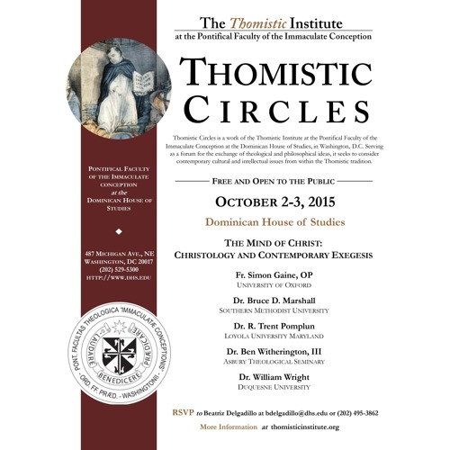 """Fr. Simon Gaine, OP:""""Does Christology still have a place for Christ's infused knowledge?""""(10/3/2015)"""