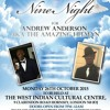 THE NINE NIGHT FOR THE LATE ANDREW ANDERSON AKA THE AMAZING HITMAN ON MONDAY 26TH OCTOBER 2015, TO BE HELD AT THE WEST INDIAN CULTURAL CENTRE, 9 CLARENDON ROAD HORNSEY, LONDON N8 0DJ DOORS OPEN FROM 7PM -12AM