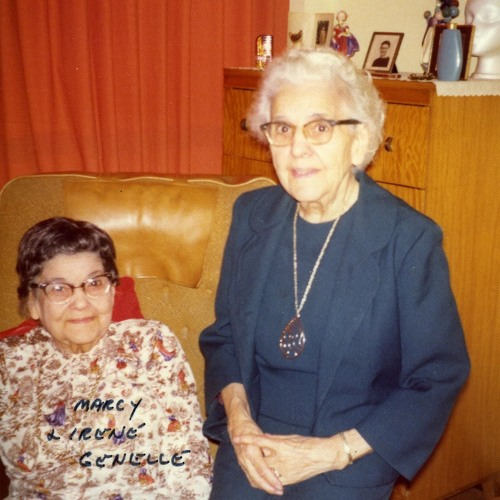Irene Fraser (Genelle) & Marcy Stickney (Genelle) 1976-02