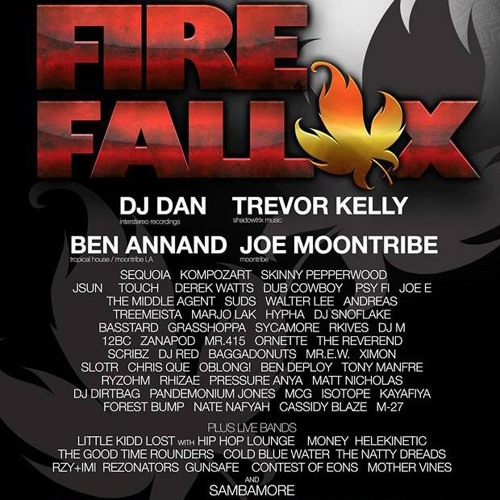 Ben Annand live at Fire Fall X, Humboldt County outdoor, 10/24/15