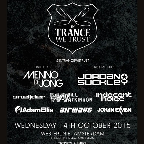 Johan Ekman LIVE @  In Trance We Trust ADE    Holland, October 14th 2015