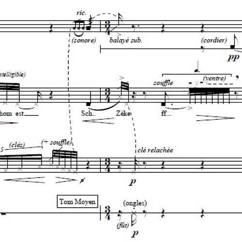 Souffle, esquisse - Chant pour un équinoxe (2015) Mezzo-Soprano and Ensemble