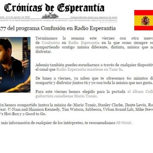 Spanish Radio Esperantia Present Mario Tomic