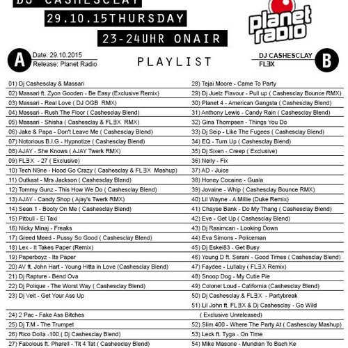 Dj Cashesclay - Planet Radio Blackbeats 10/2015