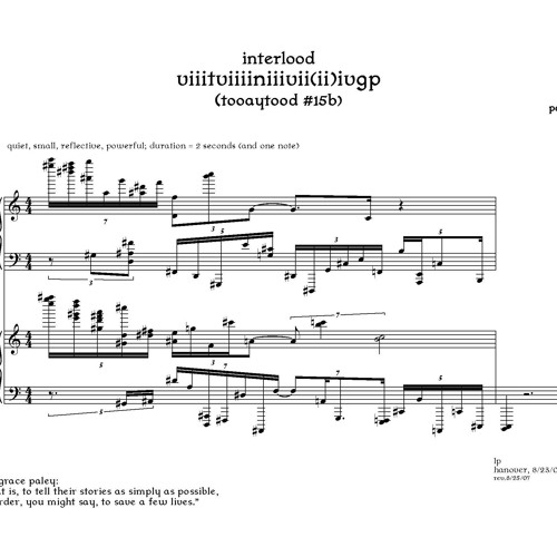 3 Pieces for 2 Pianos, Movement 1