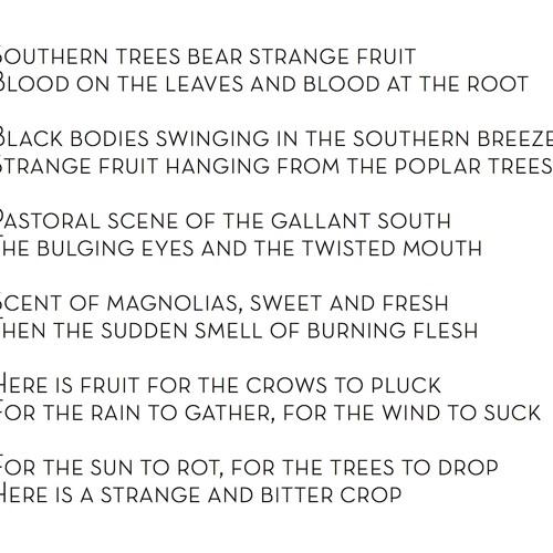Sonic Narrative _Strange Fruit